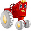 Machine tractor toy character cartoon style vector illustration white background isolated cut - Stock Photo