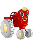 Machine tractor toy character cartoon style vector illustration white background isolated cut — Stock Photo