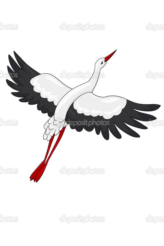 Flying bird cartoon black and white - photo#28