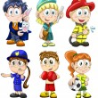 professions loisirs clipart cartoon style vector illustration blanc fond isolé coupe les enfants — Photo #25064775