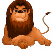 Lion wild predator character cartoon style vector illustration white background isolated cut - Stock Photo