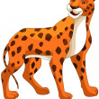 Animal leopard character cartoon style vector illustration white background isolated cut — Stock Photo