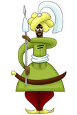 Man Arab guard character cartoon style vector illustration white background isolated cut — Stock Photo