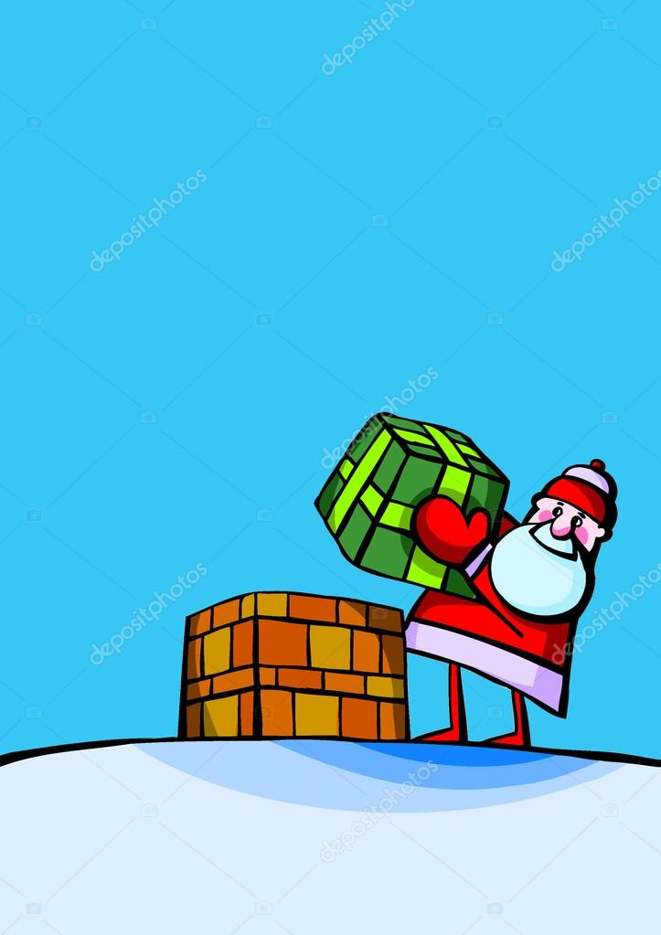 Santa claus present — Stock Vector #14360129