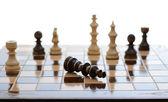 チェスをあきらめる — ストック写真