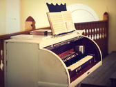 Vintage photo of piano — Stock Photo