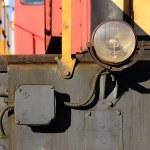 Headlight of an old locomotive — Stock Photo