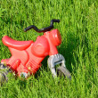 Little red motorcycle plastic — Stockfoto
