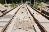 Railway construction — Stock Photo