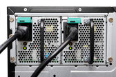 Double computer power supply in the server machine — Stock Photo