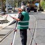 Land surveyor in work in construction — Stock Photo #30282595
