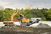 промышленных машин в дорожном строительстве — Стоковое фото