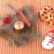 Christmas concept on wooden background  — Stock Photo