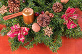 Advent wreath detail, closeup — Photo