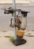 Vibratory plate compactor construction equipment — Stock Photo