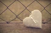 Photo soft du fond de grille avec coeur — Photo