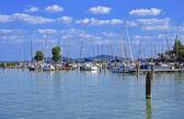 Sailing harbor at Lake Balaton,Hungary — Foto de Stock
