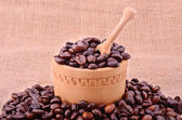 Pile of coffee beans — Stock Photo
