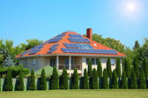 Solar panel on the roof — Stock Photo