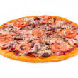 Bohemia pizza on white background — Stock Photo