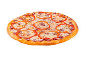 Sicilian pizza, on white background — Stock Photo