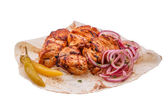 Shish kebab from a chicken breast — Stock Photo