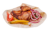 Shish kebab from pork — Stock Photo