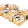 Tempura sushi with  seaweed seafood — Stock Photo