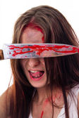 Murderer girl — Stock Photo