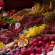 Fruit and vegetable stand in street market — Stock Photo