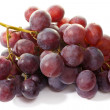 Bunch of eating black grapes on a white background — Stock Photo