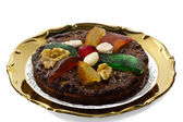 Christmas dried fruit and nut dessert, dish of Emilia Romagna — Stock Photo