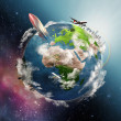 Illustration of life circle on Earth — Stock Photo #14664337