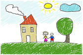 Kinderen illustraties — Stockfoto
