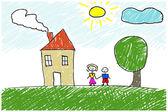 Kids artwork — Stock Photo