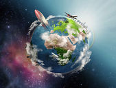 Illustration of life circle on the Earth — Stock Photo