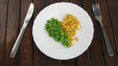 Health food on the plate — Stock Photo