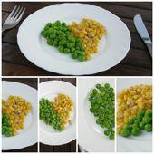 Gesunde ernährung auf die platte-collage-bilder — Stockfoto