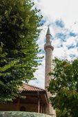 Big temple building minaret tower — Stock Photo