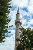 Big temple building minaret tower — Stock Photo