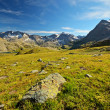 High altitude alpine scene — Stockfoto