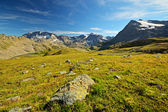 High altitude alpine scene — Stock Photo