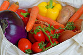 Colourful vegetables in shopping bag — Stock Photo
