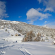 Winter landscape in the italian Alps after heavy snowfalls — Stock Photo