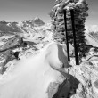 Mountain peak, Black and White — Stock Photo