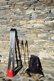 Tour skiing tools — Stock Photo