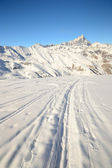Ski touring in the italian Alps — Stock Photo