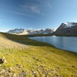 High altitude alpine lake — Stock Photo