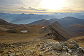 Alpine valleys at sunset — Stockfoto