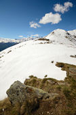 Snowcapped mountain ridge — Stock Photo